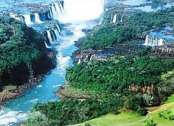 Iguazu Falls view from the Argentinean side