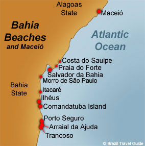 Bahia beaches and Maceio resorts