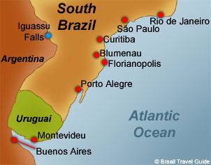 South of Brazil Map