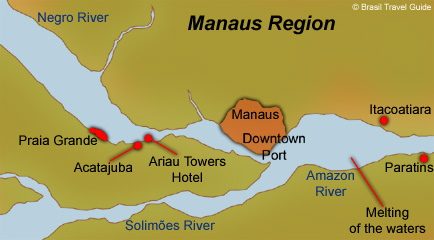 Map of the amazon basin manaus region and its main spots manaus region map gumiabroncs Images