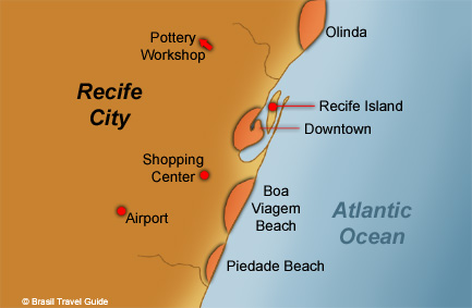 Recife, Olinda and nearby beaches
