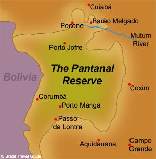 Pantanal, Brazil, map