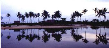 Brazilian resort with beach